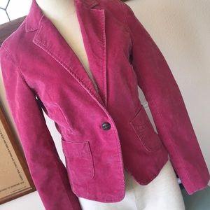 Gap stretch Corduroy pink blazer. Size 4